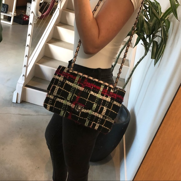 365498f8374076 CHANEL Bags | Sold Auth Multicolor Tweed Double Flap | Poshmark